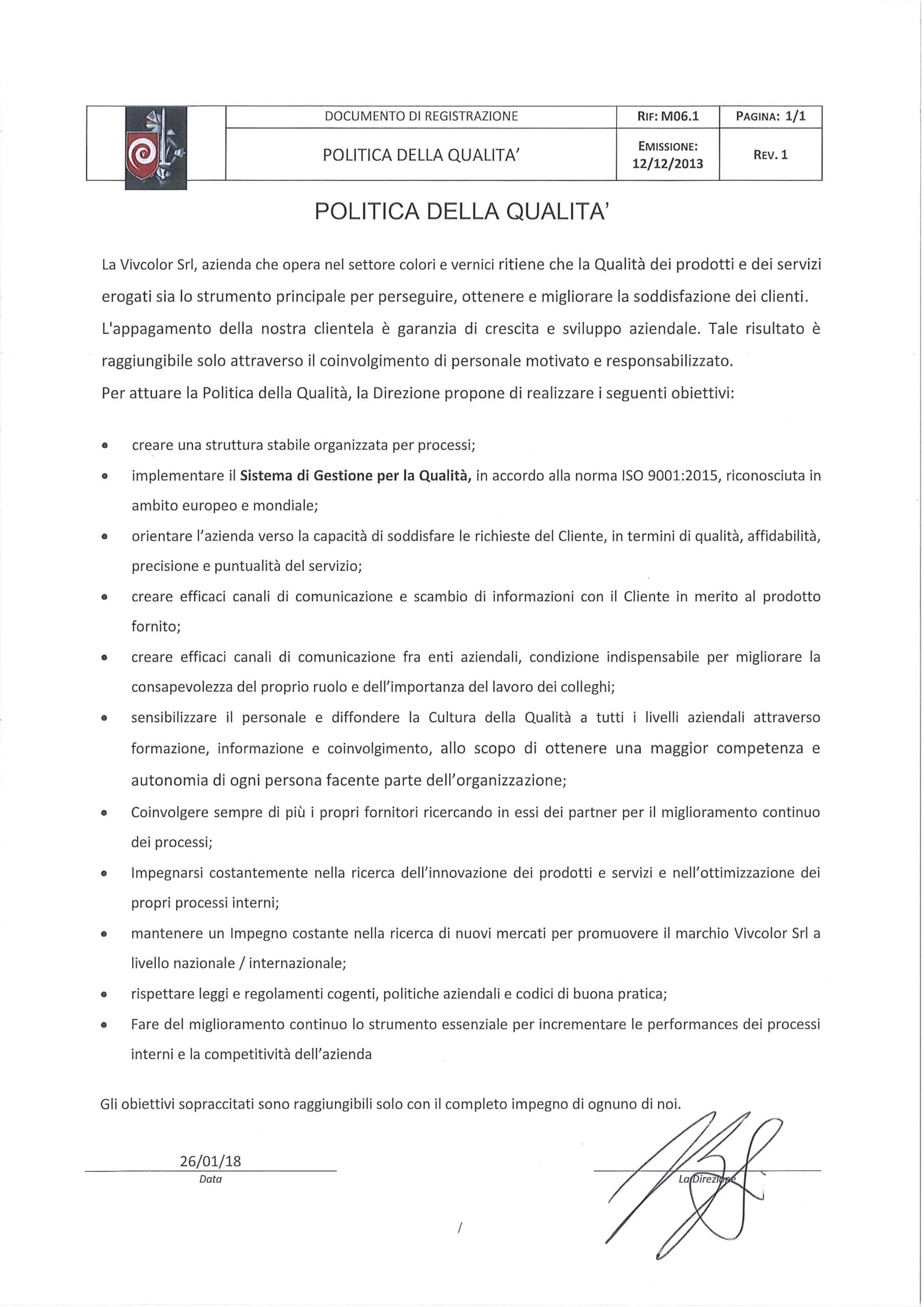 M 06.1 Politica per la qualità 26.01.18 rev.1 scaled