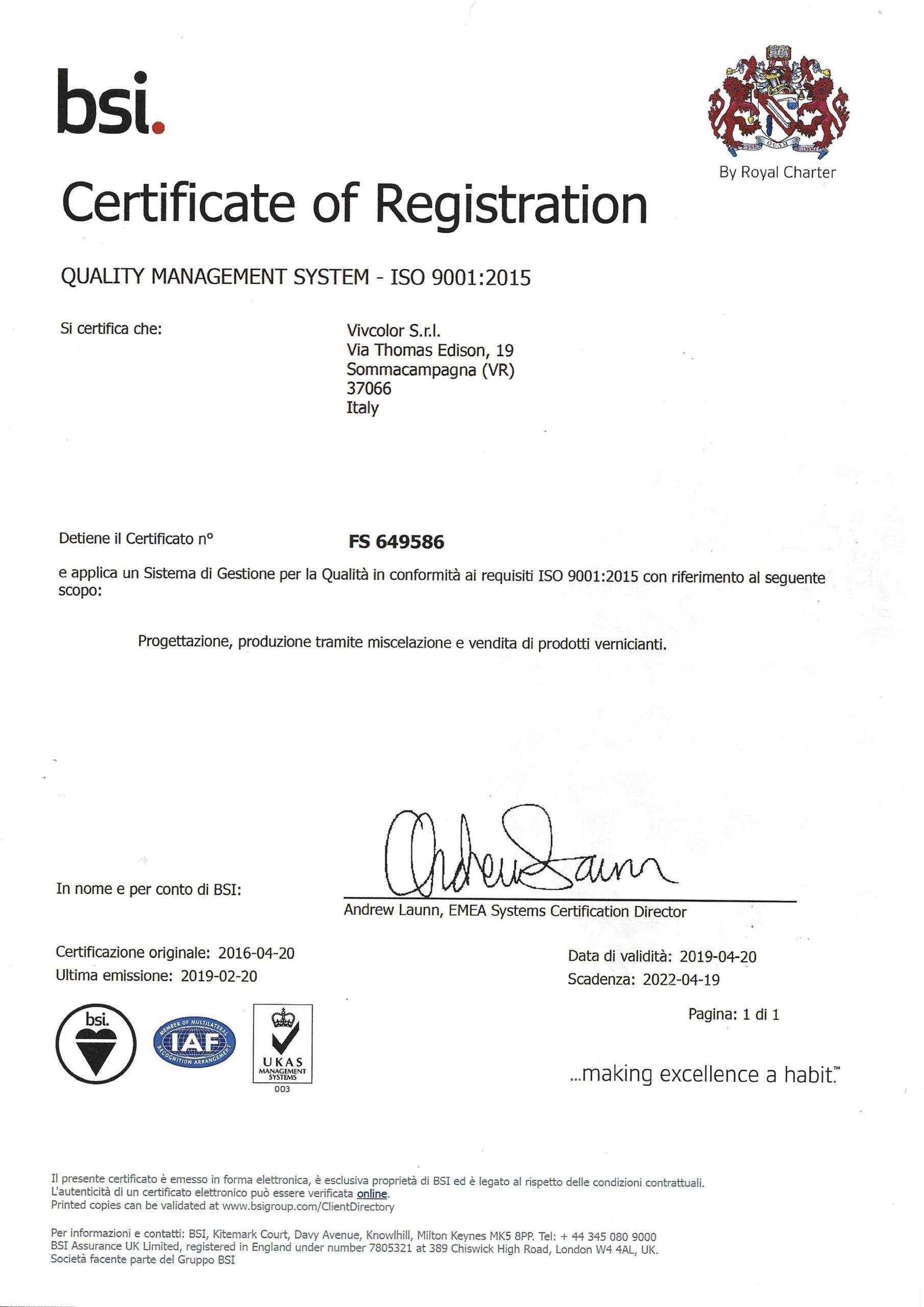 certificato bsi